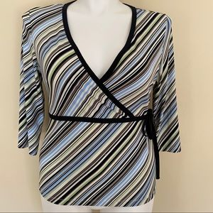 New York & Company striped blouse